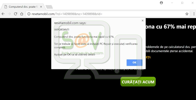 Resetamobil.com pop-ups