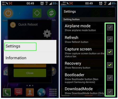 menambahkan menu screenshot, reboot dan recovery di Android