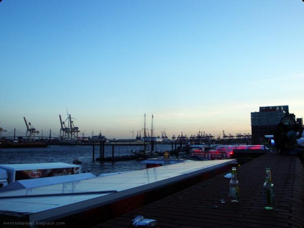 Elba en el Hafengeburtstag en Hamburgo.