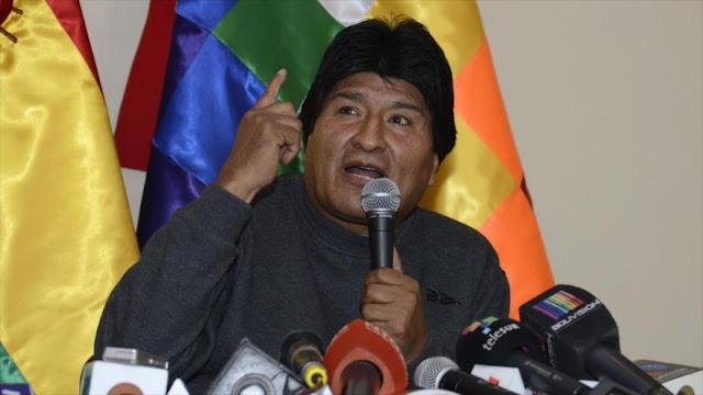 Morales a EEUU: Con invasiones y bases militares no hay libertades
