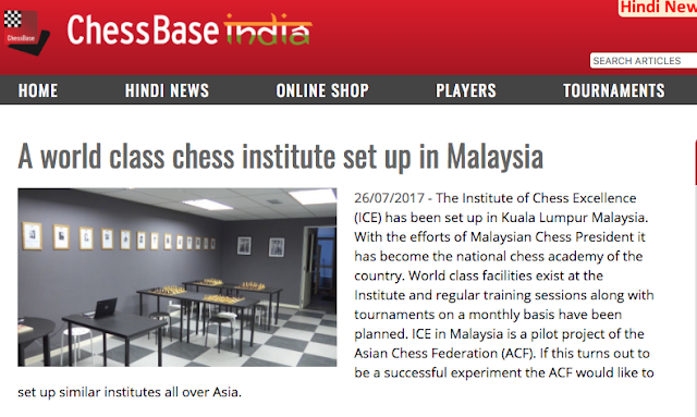 ChessBase India on the Institute for Chess Excellence