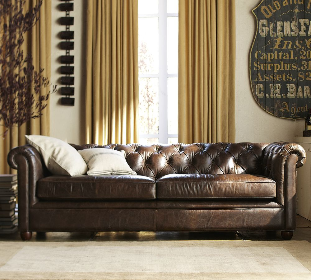 Paisley Curtain Chesterfield Sofas