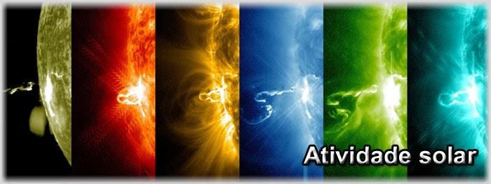 notícias sobre a atividade solar