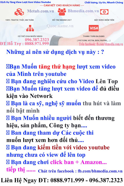 Tang view Youtube Chat luong