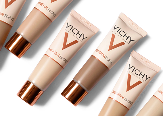 Vichy Mineralblend 16hr Hold Fresh Complexion Hydrating Foundation Review Photos Swatches Before After MAC Equivalents