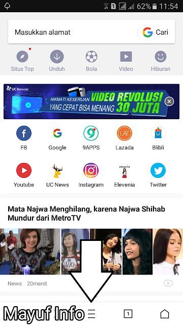 Cara Mengubah Tampilan/Background UC Browser Jadi Transparan