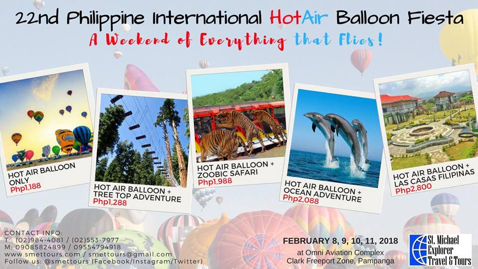 2018 philippine international hot air balloon tour package