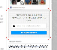 Cara Membuat Email Subscription Minimalis di Blog