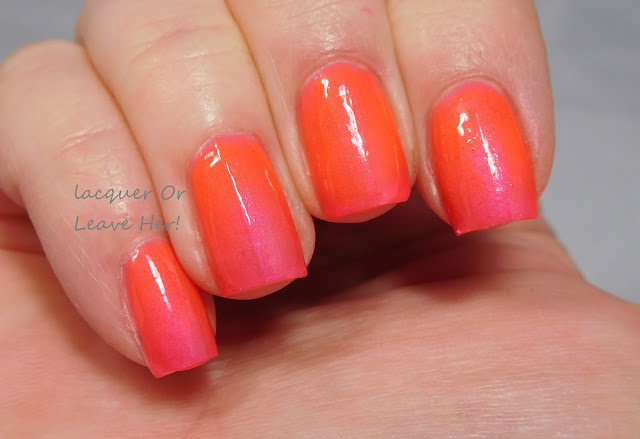 Neon gradient with China Glaze Neons