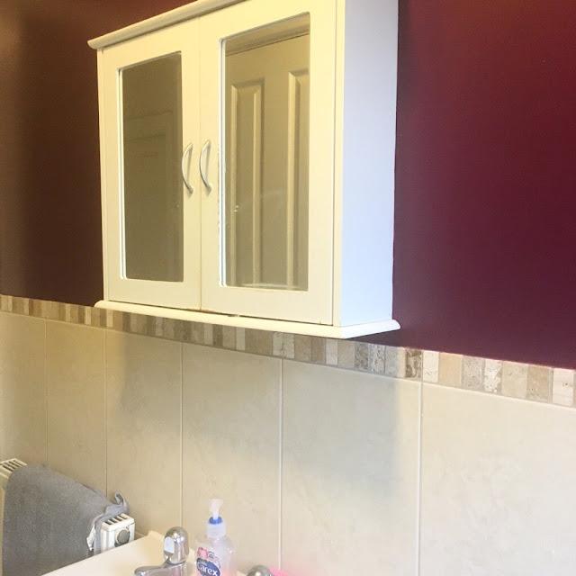 Plum bathroom