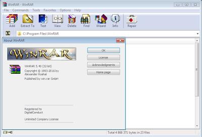 تفعيل برنامج ضغط الملفات Winrar 5.50 مجانا