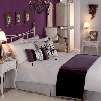 astonishing plum bedroom walls | My Sweet June: Adding a Pop of Color to a White Bedroom