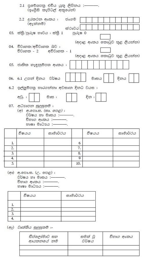 Job Application Form Format In Sri Lanka on look like, marketing part-time, internet data entry,