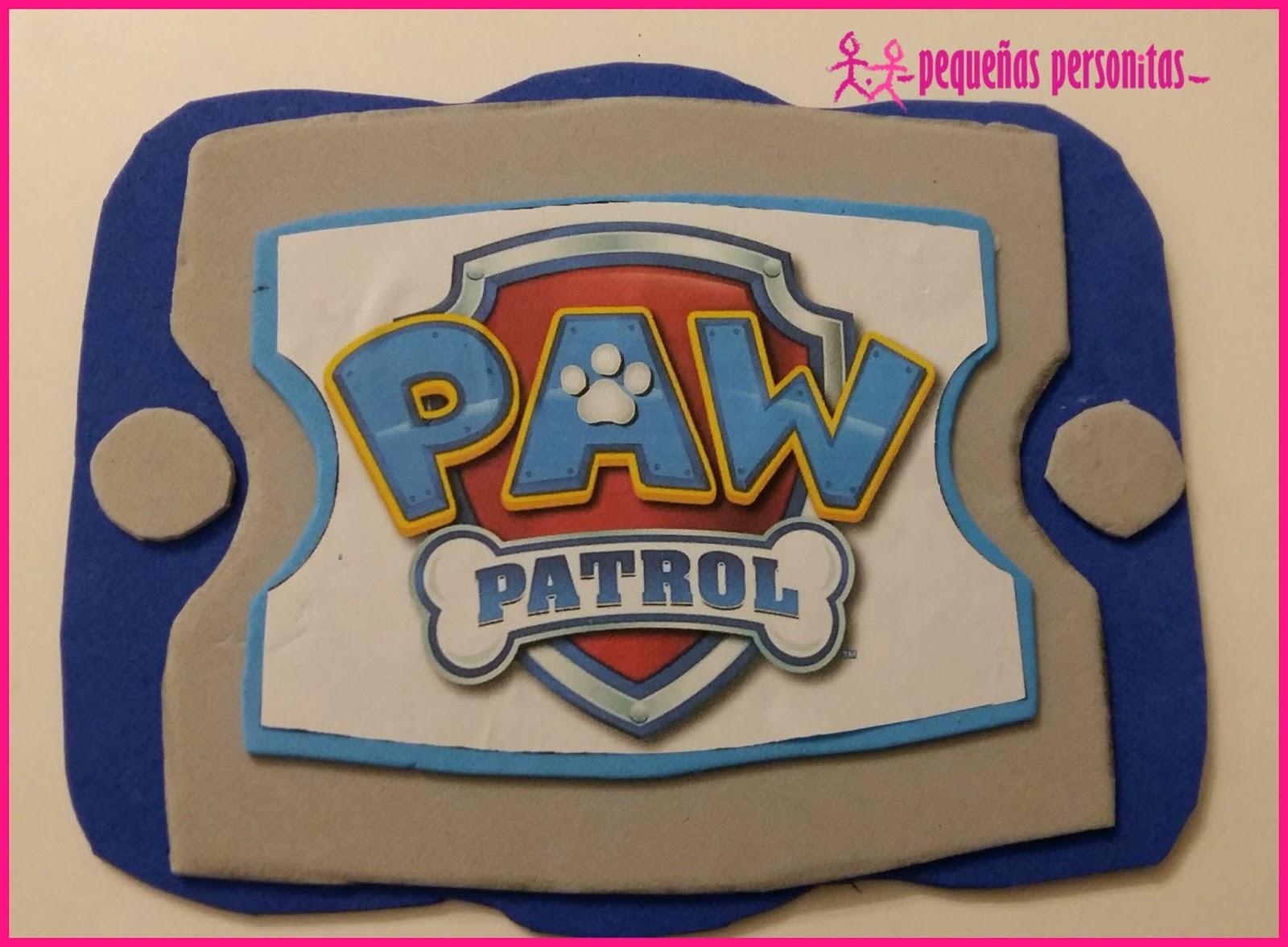 Diy paw pad de la patrulla canina con goma eva peque as - Manualidades patrulla canina ...