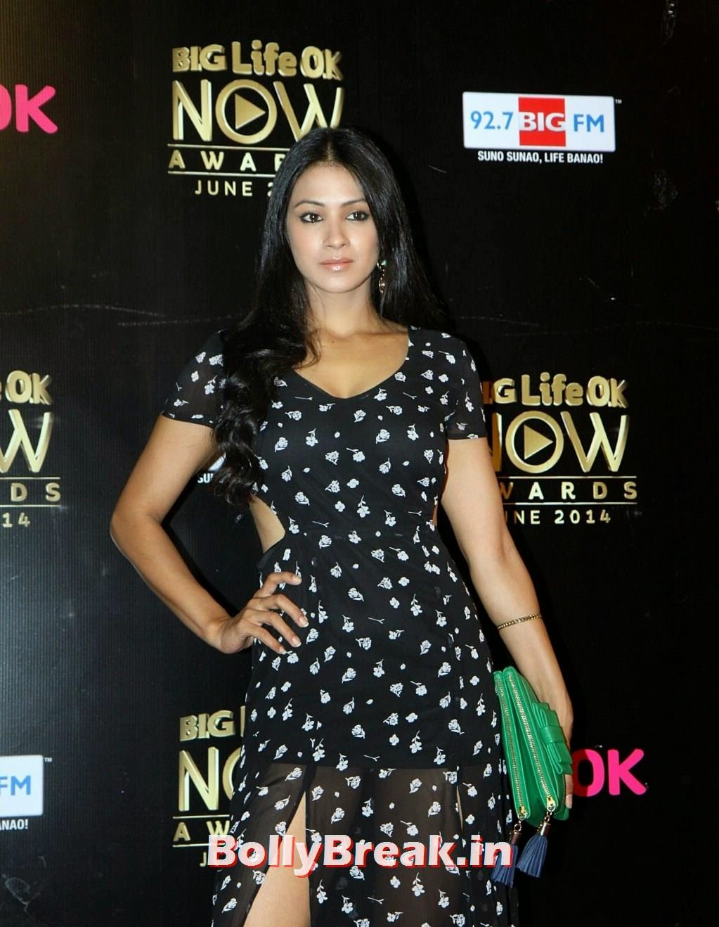 Barkha Bisht in transparent black dress at Life Ok Now Awards 2014, Barkha Bisht Latest Hot HD Pics from Life Ok Now Awards 2014