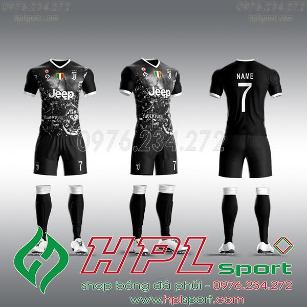 Mẫu áo câu lạc bộ tự thiết kế Juventus đen