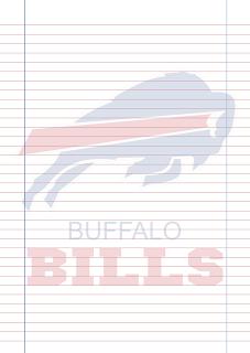 Papel Pautado Buffalo Bills PDF para imprimir na folha A4