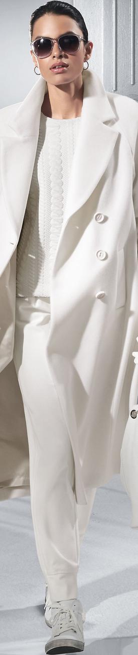 Madeleine Wool White Coat