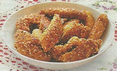Какие понадобятся продукты, чтобы приготовить куриные палочки с кунжутом