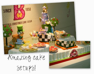alice in wonderland birthday cake and party