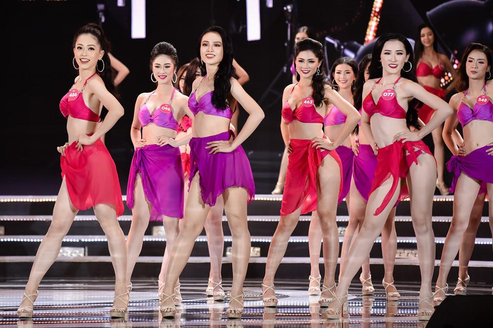 Top 25 Hoa hậu Việt Nam trong màn trình diễn Bikini