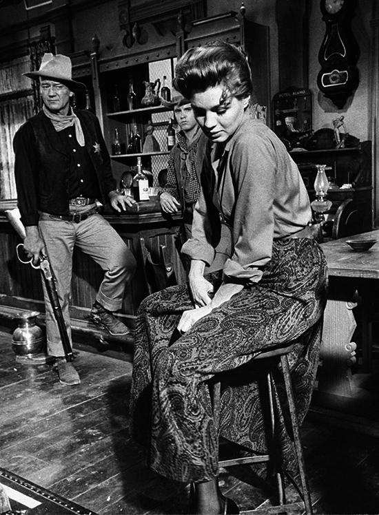 John Wayne, Ricky Nelson y Angie Dickinson
