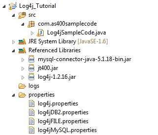 Programmers Sample Guide: Java log4j tutorial for beginners