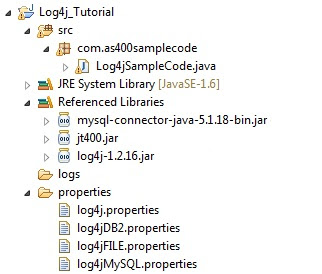 Log4j tutorial for beginners Java Db2 and MySQL