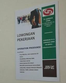 Lowongan Kerja PT Leuwijaya Utama  Textile (Leuwitex) 2019