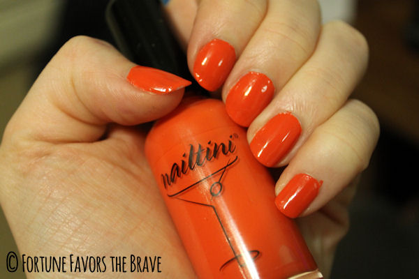 Nailtini in Mai Tai on Fortune Favors the Brave #nails #mani