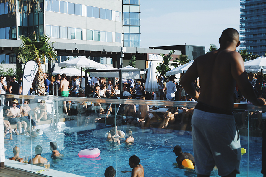 Pool party at Puro beach in Hilton Diagonal Barcelona