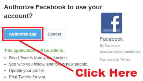 how to link your facebook page to your twitter account