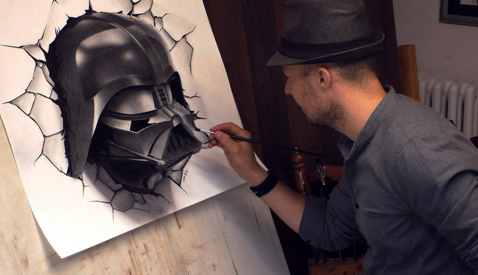 06-Darth-Vader-Star-Wars-Stefan-Pabst-3D-Optical-Illusions-Drawings-and-Paintings-www-designstack-co