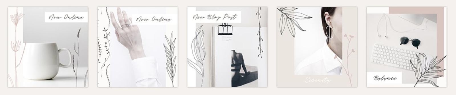 plantillas para instagram elegantes bonitas diseño en canva y photoshop