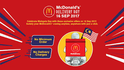 Free McDonald's Delivery Malaysia Day Promo