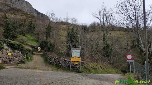 Fuente y cruce de caminos en Villa de Sub