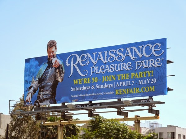 Renaissance Pleasure Faire 2012 billboard