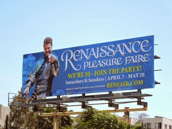 Renaissance Pleasure Faire 2012 billboard
