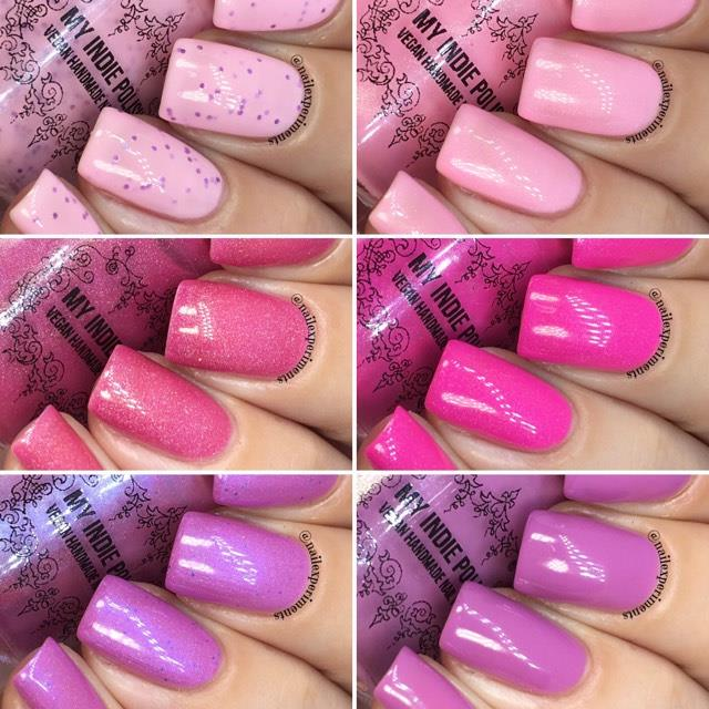 my indie polish the pinks collection