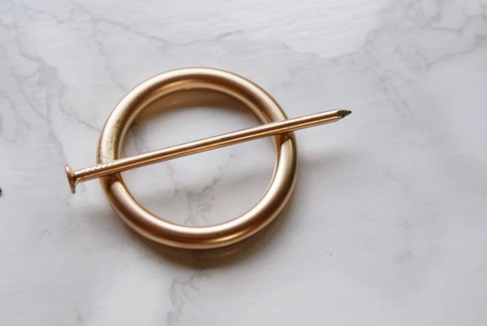 diy circle hair pin francinesplaceblog