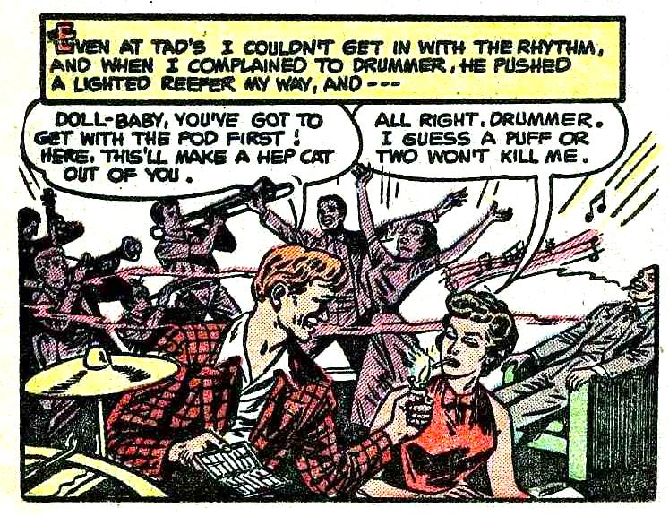 I WAS A MUSICIAN'S GIRL, comic book 1950s, reefer