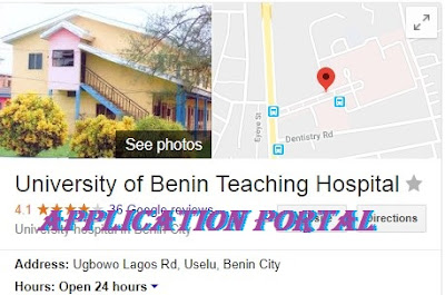 The University of Benin Teaching Hospital (UBTH) | Application Registration Form