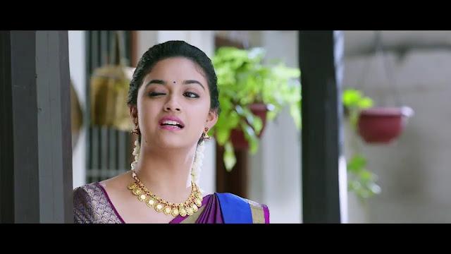 Keerthi Suresh cute Impression in Vijay's Bairavaa Movie