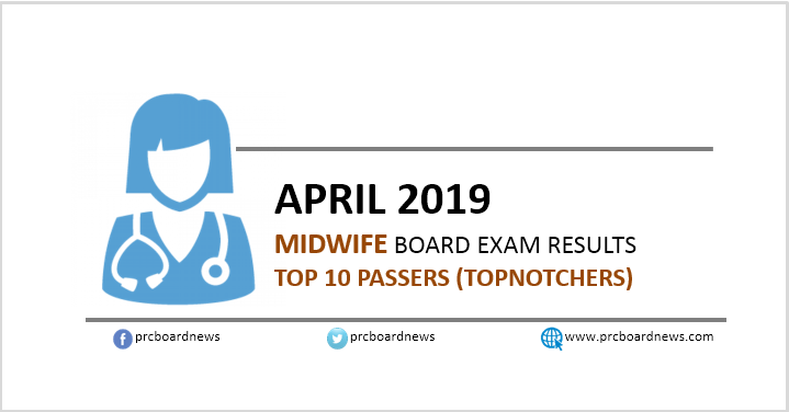 TOP 10 PASSERS: April 2019 Midwife board exam results