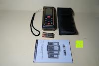 Übersicht: Laser-Entfernungsmesser, Jetery Digital Laser Distanzmessgerät Messung von Distanz, Flächen, Volumen|+/-2mm Messgenauigkeit|Laser Distanzmesser m/in/ft IP54 Schutz mit LCD Display, Wasserwaage, Batterien, Schutztasche (40M)