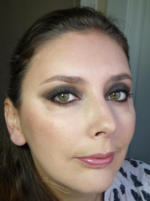 Full face motd look with tarte Double Duty Beauty Star Power palette: Star Power Blush and smokey eye with Stiletto