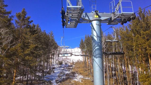 Опора кресельного подъёмника в ГЛЦ Солнечая долина