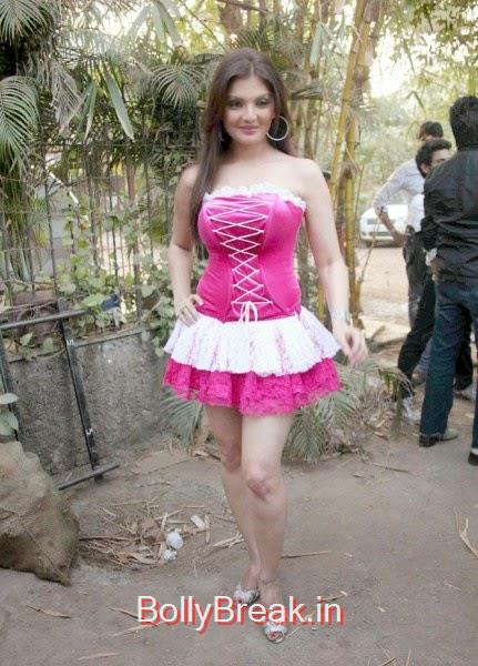 , Actress Deepshikha hot Pics in Pink Backless Dress