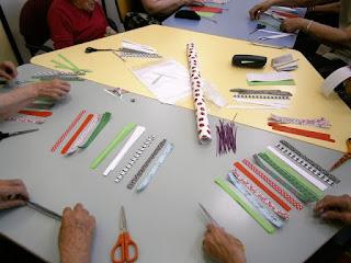 Materials per fer els fanals de papers de colors