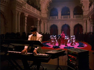 Eyes Wide Shut's, Orgy Sequence, Todd Field as Nick Nightingale, playing piano blindfolded, Directed by Stanley Kubrick